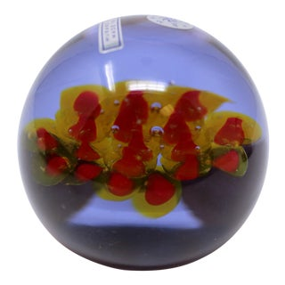 Vintage Murano Glass Paperweight by Cenedese For Sale