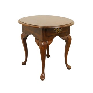 Late 20th Century Vintage Cresent Furniture Queen Anne Style Side Table For Sale