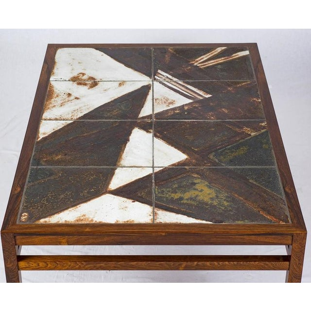 Danish Rosewood Abstract Tile Coffee Table - Image 7 of 10