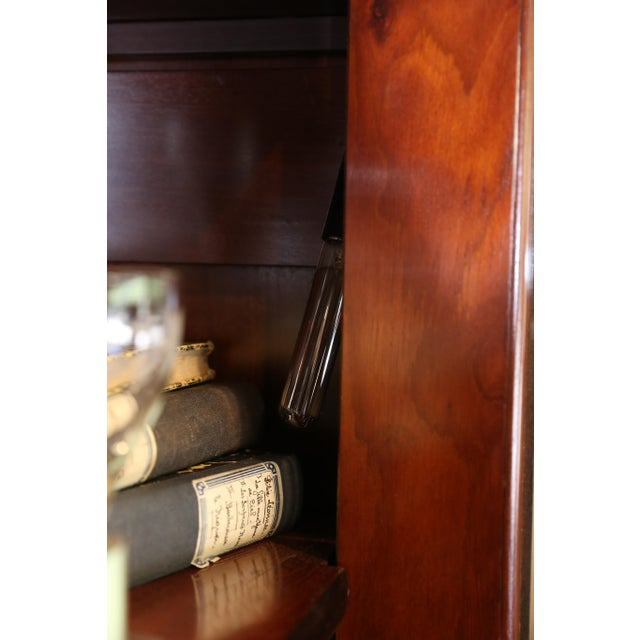 1900s Belgian Ebonized Wood Deux Corps Biblioteque Vitrine Bookshelf For Sale - Image 11 of 13