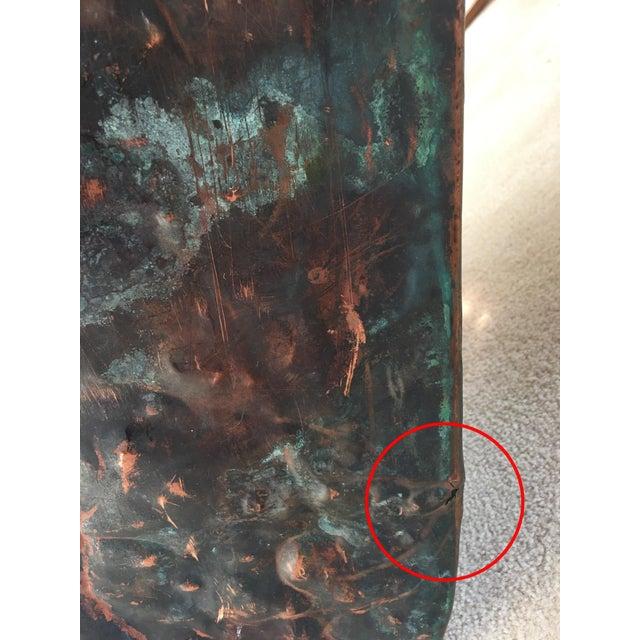 Vintage Copper Boiler Wash Tub Basin For Sale - Image 9 of 10