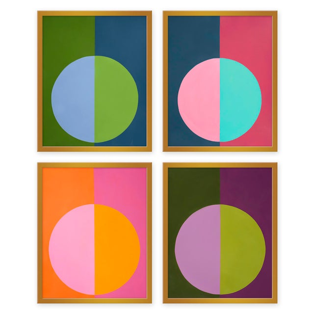 """Contemporary XL """"Forevers Set of 4"""" Prints by Stephanie Henderson, 50"""" X 62"""" For Sale - Image 3 of 3"""