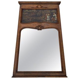 1980s Henredon Chinoiserie Trumeau Mirror For Sale