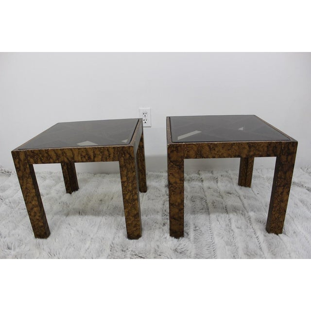 take a look at these beautiful square tables, coming to you from the 1970's with beautiful glass tops. These super rare...