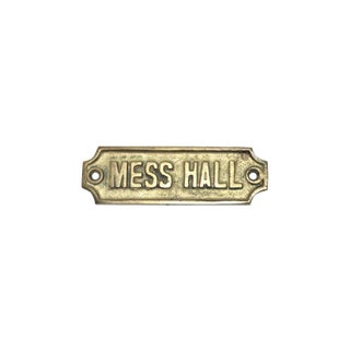 1940s Brass Mess Hall Plaque