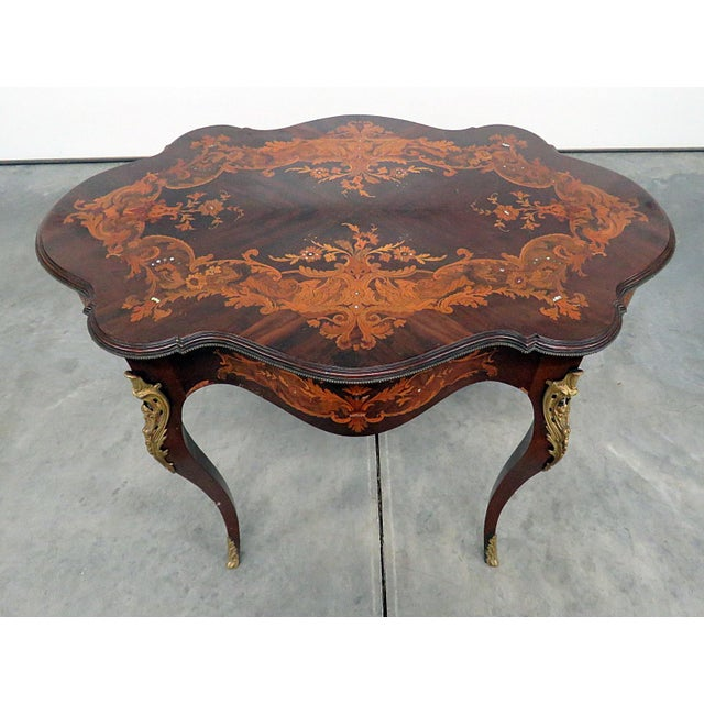Victorian Inlaid Center Table For Sale - Image 13 of 13