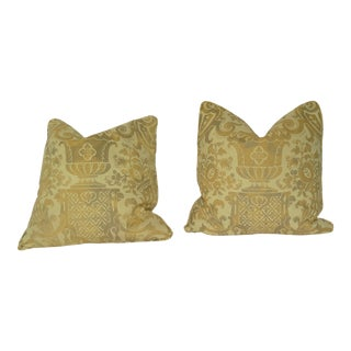 """Fortuny """"Carnivale"""" Pattern Pillows - a Pair For Sale"""