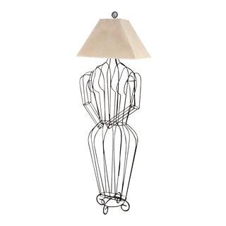 1960s Vintage John Risley Sculptural Figure Lamp For Sale