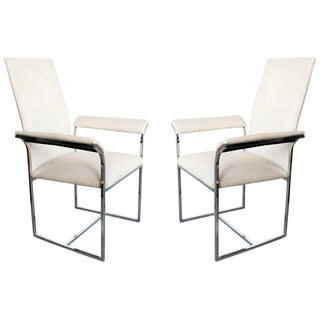 A Pair of Chairs by Milo Baughman for Thayer Coggin For Sale