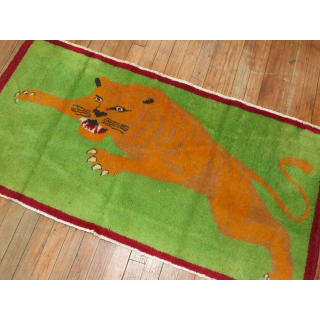 Textile Angry Tiger Vintage Turkish Rug, 2'3'' X 4'6'' For Sale - Image 7 of 10