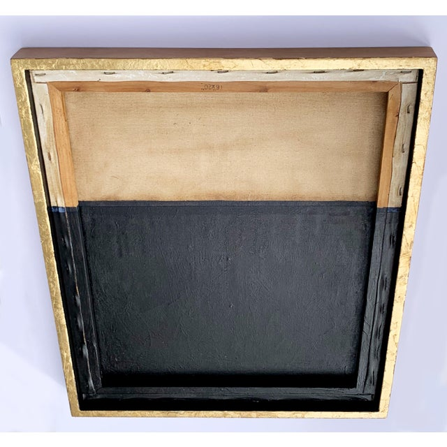 Minimal Abstract Black and Tan Framed Painting For Sale In Portland, ME - Image 6 of 11