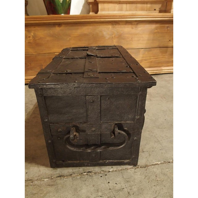 French 17th Century Iron Strongbox from a Ship For Sale - Image 3 of 11