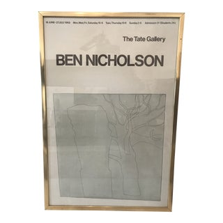 1970s Vintage Ben Nicholson the Tate Gallery Framed Print For Sale
