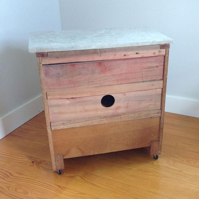 Early 20th Century Country Oak and Marble Washstand Cupboard For Sale - Image 9 of 10