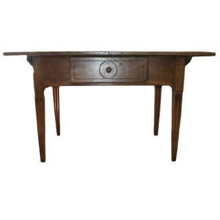 19th Century French Louis XVI Style Walnut Work Table For Sale