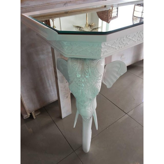 Gampel-Stoll White Elephant Console Table - Image 7 of 12