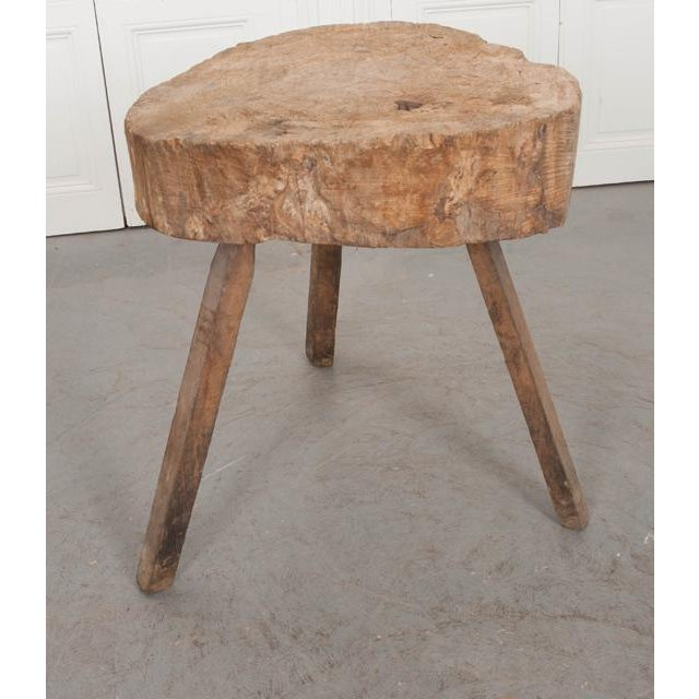 """Wood French 19th Century Provincial """"Tree-Trunk"""" Chopping Block Stool For Sale - Image 7 of 8"""