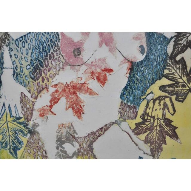 "Circa 1986 Sasha Wasko ""Life Cycle - Fall"" Aquatint Etching For Sale - Image 9 of 10"
