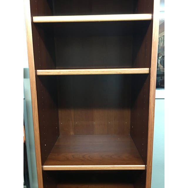 Narrow Teak Veneer Bookcase For Sale - Image 4 of 5