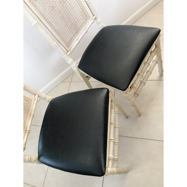 1960's Stackmore Faux Bamboo Cane Back Folding Chair- a Pair For Sale In Miami - Image 6 of 10