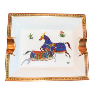(Thanksgiving Final) Vintage Hermes Cheval d'Orient Cigar Tray For Sale