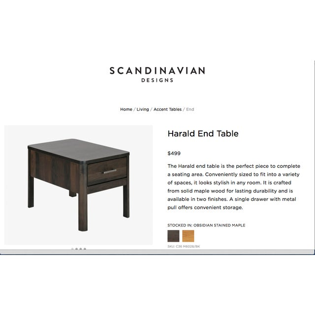 Scandinavian Designs Harald End Tables - Pair - Image 11 of 11