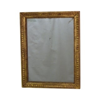 18th C. Carved Giltwood Mirror