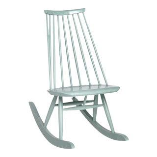 Mademoiselle Rocking Chair in Sage by Ilmari Tapiovaara & Artek For Sale