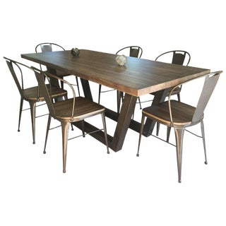 21st Century Wrought Iron Set of Patio Dining Set For Sale