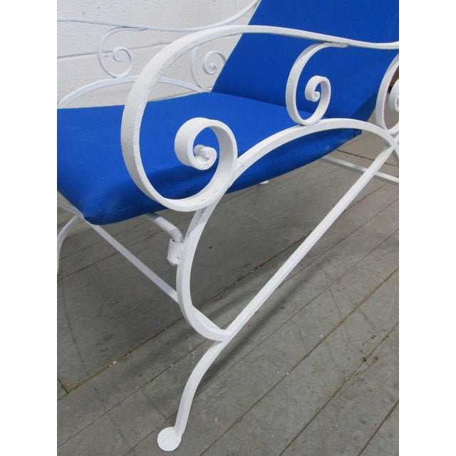 Pair of Wrought Iron Lounge Chairs For Sale In New York - Image 6 of 9