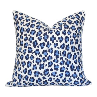 "Quadrille Conga Line Navy & French Blue Pillow Cover 20"" Sq"