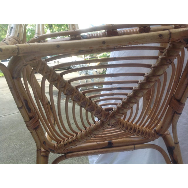 Mid-Century Ficks and Reed Style Bamboo Rocking Chair - Image 8 of 8