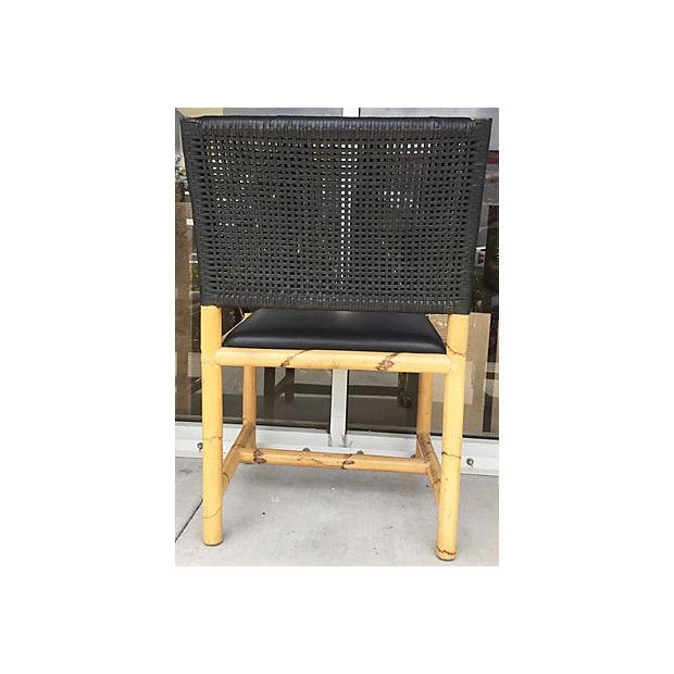 Bamboo & Leather Chairs - Set of 4 - Image 7 of 7