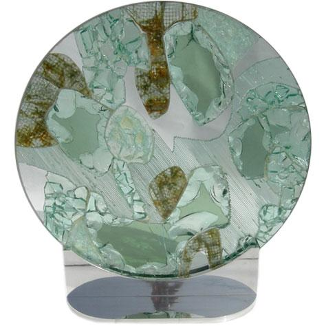 Large Free Standing Glass Sculpture by Kamp - Image 1 of 8