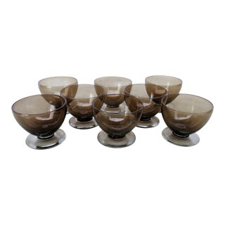 Vintage Glass Coupes - Set of 8 For Sale