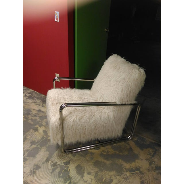 Faux Fur Chair For Sale - Image 4 of 8