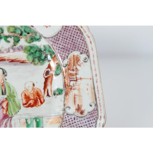 Chinese Export / Manderin Palette Platter For Sale - Image 9 of 12