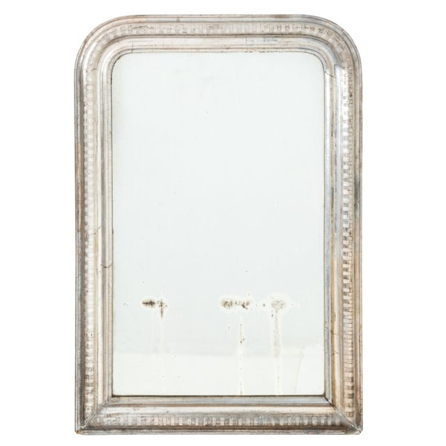 Glass 1850s Louis Phillip Silver Gilt Mirror For Sale - Image 7 of 7