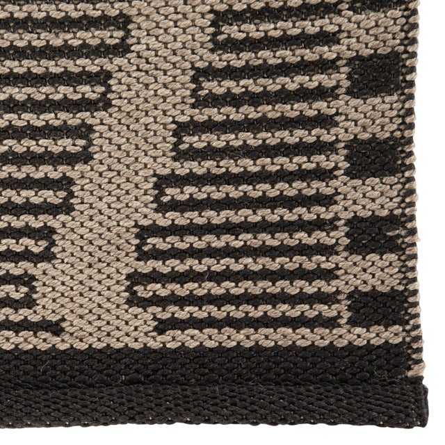 Contemporary Nikki Chu by Jaipur Living Mira Indoor/ Outdoor Trellis Beige/ Black Area Rug - 7′6″ × 9′6″ For Sale - Image 3 of 6