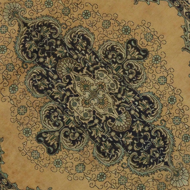 Vintage Persian Tabriz Rug With Neoclassical Glamour, 9'10 X 11'2 - Image 5 of 6