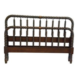 Antique Jenny Lind Full Sized Spindle Wood Bed Frame