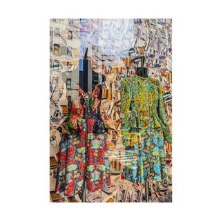 """Fifth Avenue Fashion"" New York Medium Green, Red, Blue Photograph by Laura Noel For Sale"