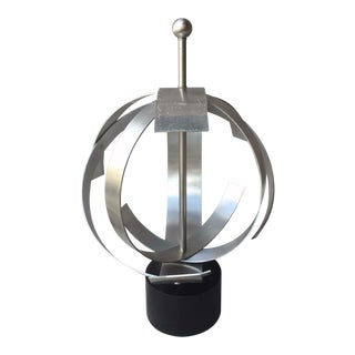 1970's Space Age Geo Orb Kinetic Aluminum Sculpture For Sale