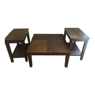 Vintage Style Wooden Coffee & Side Tables - Set of 3 For Sale