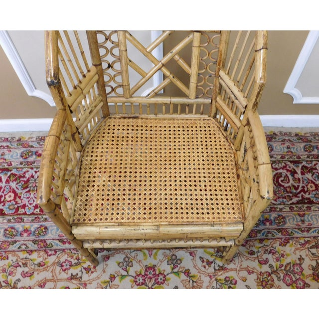 Brighton Style Chippendale Hollywood Regency Bamboo Armchairs- A Pair - Image 10 of 10