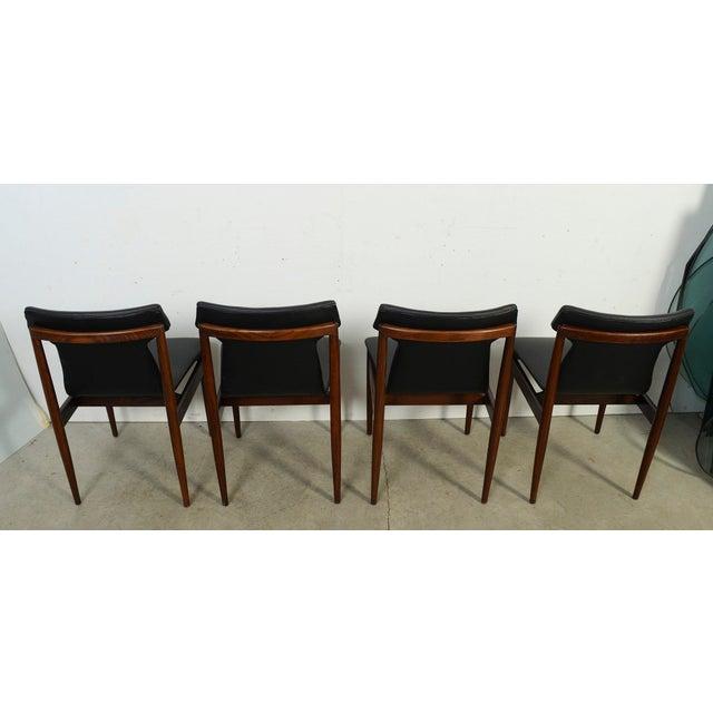 1960s Vintage Klingenberg for Fristho Danish Modern Rosewood Dining Chairs- Set of 4 For Sale In Washington DC - Image 6 of 10