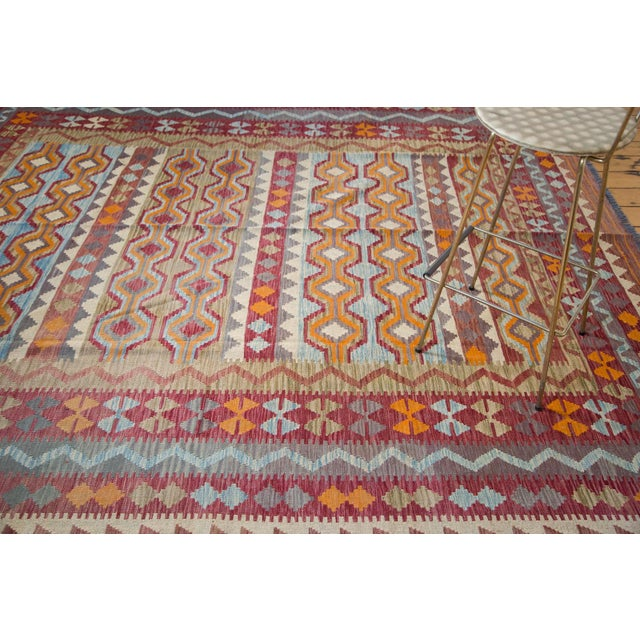 "Contemporary Kilim Carpet - 7'10"" x 9'6"" For Sale - Image 4 of 6"