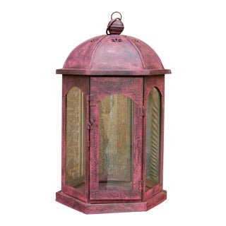 Charming Acanthus Glass Lantern For Sale