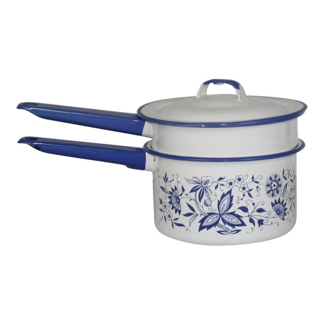 French Enamel Pot - Image 1 of 7