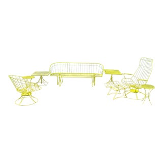 Mid Century Modern Homecrest Metal Wire Patio Set- 8 Pieces For Sale